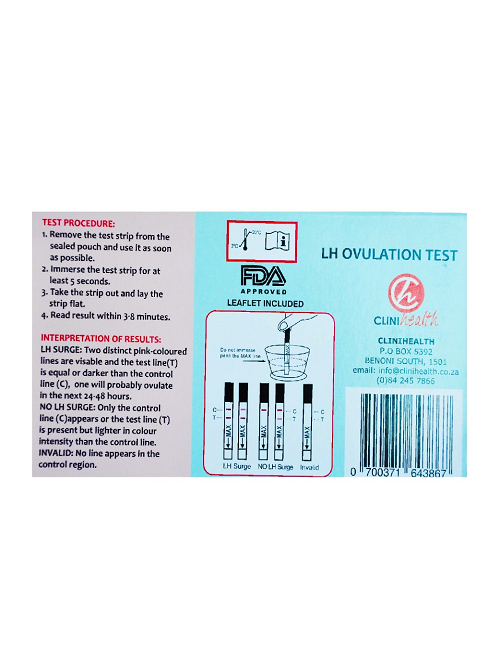 Ovulation Tests - pack of 5 tests